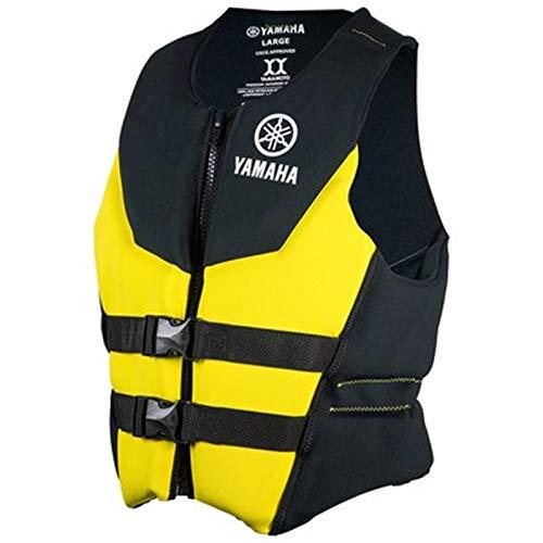 OEM Yamaha Men's Neoprene 2-Buckle PFD Life Vest Jacket YELLOW MEDIUM
