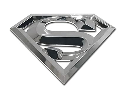 Amazon Com Superman Chrome S 3d Emblem Premium Metal Finish Car