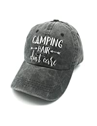 Waldeal Camping Hair Don't Care Vintage Washed Dyed Adjustable Baseball Cap Hat