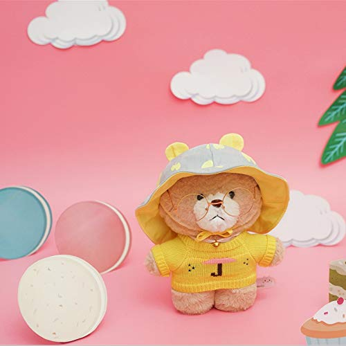 GOOGEE Stuffed Animal - Bunny Rabbit and Bear Plush Doll Stuffed Animal Toys for Children Girls Stuffed Kids Toys - 30-35cm Bear-Yellow Hat - Animals Cat Aurora Giant Net Lion Cow Monkey -