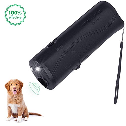 nicekrud LED Ultrasonic Dog Repeller Control & Trainer Device 3 in 1 Anti Barking Stop Bark Handheld Dog Training Device & Controller Safe Walk a Dog Outdoor