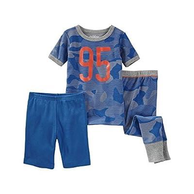 OshKosh Bgosh Littl E Boys 3 Piece Snug Fit Pajama Set
