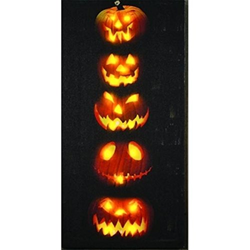 Pumpkin Stack Light Up Canvas -