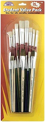 Loew-Cornell 74 25-Piece Brush Set, Student Value