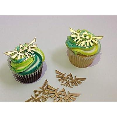 Zelda Crest Cupcake Toppers (1 Doz): Handmade