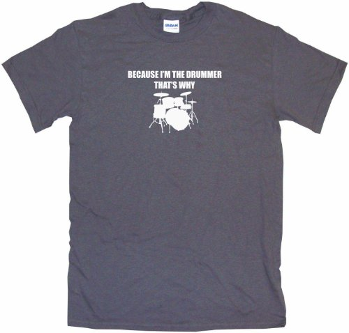 Vst Big Band (Because I'm The Drummer That's Why Big Boy's Kids Tee Shirt Youth Large-Charcoal)