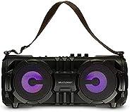 Caixa De Som Bazooka Bluetooth, Sd, Usb, Aux, Fm, Mic 100W Rms Preta Multilaser - SP302