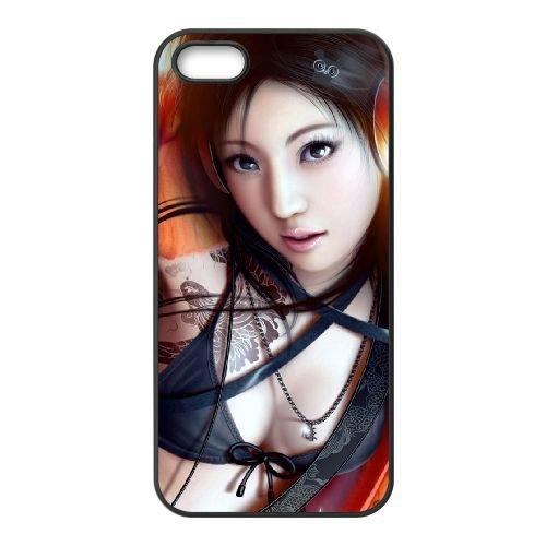 A8J91 chanteur fille coque iPhone fantasy Q5N3WE 4 4s cellulaire cas de téléphone couvercle coque noire DM6LPV4DX