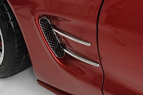 Corvette Side Vent Spears Chrome Retro Style 4Pc 1997-2004 C5 & - Vent Spears Stainless