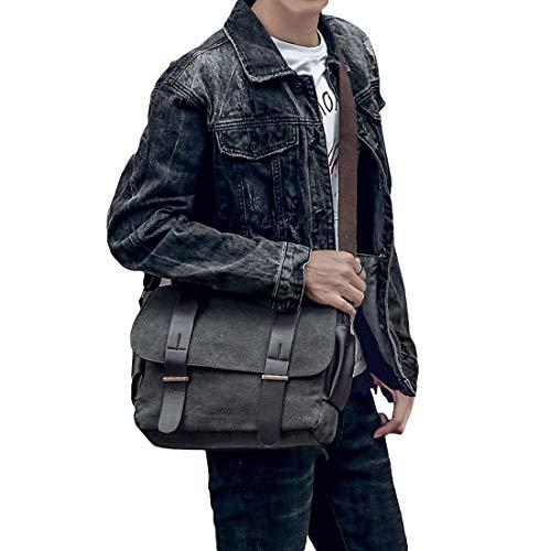 Casual Hombres Bolso Estudiante Hombro Yefree Mensajero Moda Bolsa Viaje Los Gris La De IUId6qwP