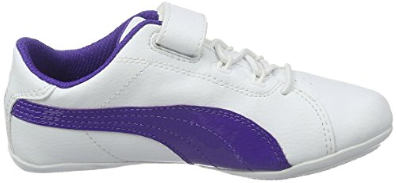 Puma Janine Dance 2 V Ps, Unisex Kids' Low-Top Sneakers, White -(puma White-Prism Violet 06), 1 UK (33 EU)