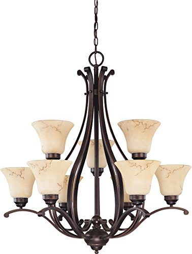 (Nuvo Lighting 60/1403 Nine Light Chandelier, Bronze/Dark)