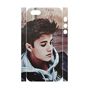 wugdiy New Fashion Cover 3D Case for iPhone 5,5S with custom Justin Bieber