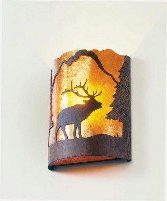 Lamp Handcrafted Ridge (Steel Partners Timber Ridge Sconce - Wapiti)