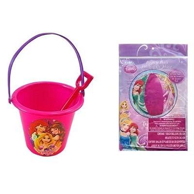 Disney Princess Sand Bucket and Shovel + Beach Ball Set: Toys & Games
