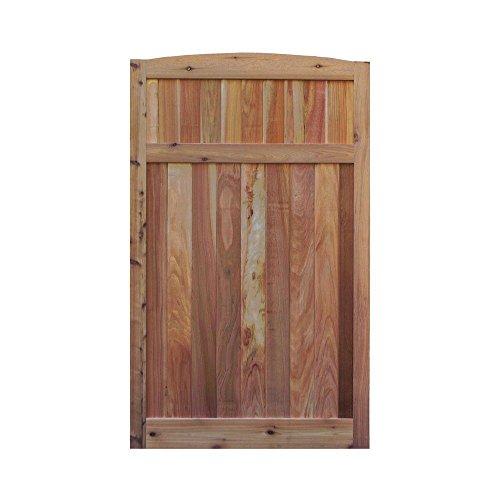 - Signature Development 3.5 ft. H W x 6 ft. H H Western Red Cedar Arch Top Solid Lattice Fence Gate