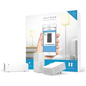 INSTEON Home Control Starter Kit, 1 Hub & 2 Dimmer Modules – 2244-372, Works with Amazon Alexa