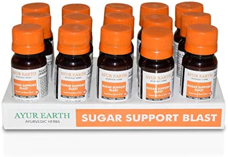 Blood Sugar Support Supreme Superfood Blend Ayurveda Shots -Better Bitters-Fat Blocking -Glucose Control -Improved Circulation Stabilizer-Total Blood Sugar Optimizer-Weight Loss 15 Pack