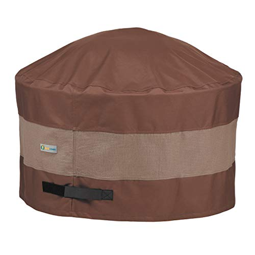Duck Covers UFPR3620 Ultimate 36 in. Round Fire Pit Cover, 36D x 24H, Mocha Cappuccino (Firepit Cover With)