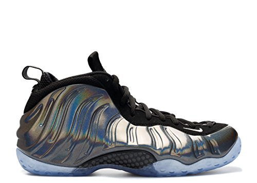 Mens Nike Air Foamposite Un Hologramme Chaussures De Basket-ball - 314996 900 Multicolore / Métallique Argent-noir