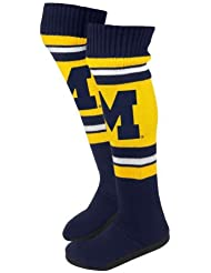 2013 NCAA College Womens Knee High Knit Boot Slippers