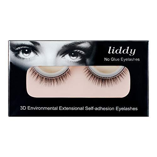 LIDDY 3D Lashes Self-adhesive False Eyelashes Makeup Reusable Natural Hand Made Fake Eyelashes– Natural Fashion Eye Lash Extensions for Fashion &Makeup (3D-05)