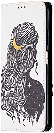 Miagon Wallet Folio Flip PU Leather Case for Samsung Galaxy A72,Creative Painted Design Full-Body Protective C
