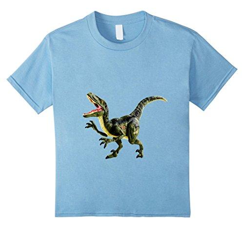 Kids Dinosaur Velociraptor - Halloween tee - Party Fun t-Shirt 6 Baby Blue