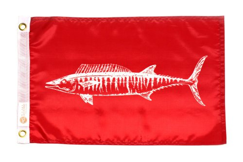 - Taylor Made Products 4118, Fish Flag, Nylon, 12 inch x 18 inch, Wahoo