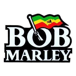 bob marley red gold green flag vinyl sticker amazon co uk rh amazon co uk