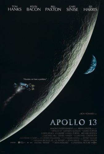 Apollo 13 Tom Hanks Bill Paxton Kevin Bacon Original Single Sided Advance Style Rolled 27x40 Movie Poster 1995 ()
