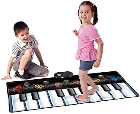 子供のためのピアノマット/キーボードダンスマット楽器、子供キッズ超巨大キーボードピアノミュージカル音楽屋内屋外床プレイマット