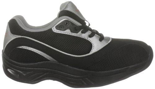 Chung Shi AuBioRiG Comfort Step Max 9102255 - Zapatillas de deporte de tela para mujer Negro