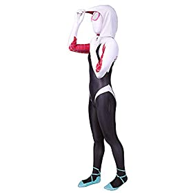 - 41JXBMwOIWL - Spider Gwen Stacy Costume Into The Spider Verse Costume Kids 3D Style