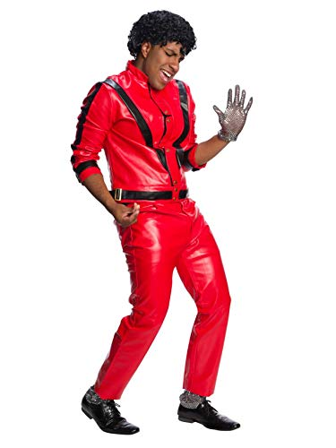 Charades Men's Michael Jackson Thriller Jacket, Red/Black Medium ()