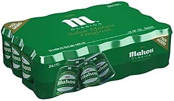 Mahou Clásica - Cerveza Dorada Lager, 4.8% de Volumen de Alcohol - Pack de 24 x 33 cl: Amazon.es: Alimentación y bebidas