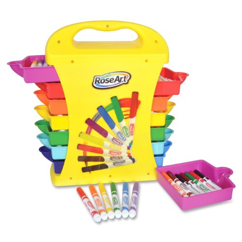 RoseArt Marker Classpack Caddy with 208 Markers, Assorted Colors, Packaging May Vary (40259UA-1) by Rose Art