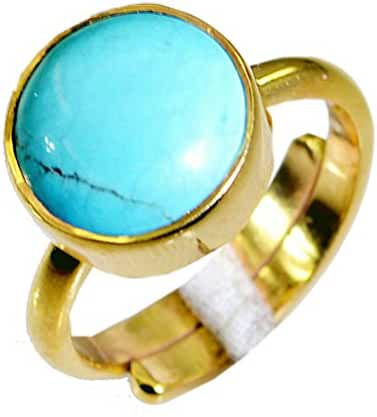 grand Turquoise Copper Turquoise Ring supply L-1in US