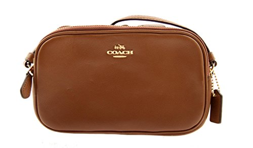 COACH Crossbody Bag Small Leather Bag (Brown)