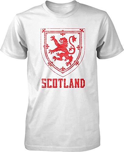 Clara Warren Scotland, Coat of Arms, King of Scots, Red Lion, Crown of Scotland Men's T-Shirt White