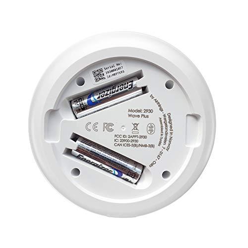 AirThings Wave Plus Smart Radon, detector de CO2 y TVOCs con sensores de temperatura, humedad y presión de aire, operado por baterías, con aplicación ...