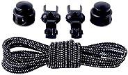 HEALIFTY 5pcs Elastic No Tie Shoe Laces Stretch Shoe Laces for Adults and Kids (Black)