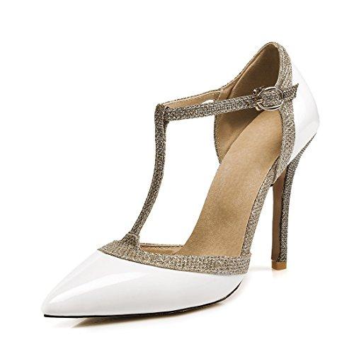 sandali sandali sandali fibbie hollow sandali sandali i white alto i tacco 39 sexy signore ha fSwgqRR