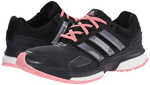 adidas Response Boost 2Techfit W Zapatillas de la mujer Grey/Black/Pink