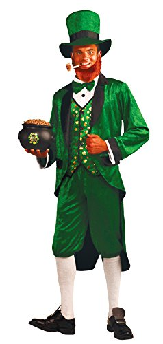 Leprechaun Movie Halloween Costumes (UHC Men's Mr. Leprechaun Outfit Holiday Theme Party St. Patrick's Day Costume, OS (Up to 42))