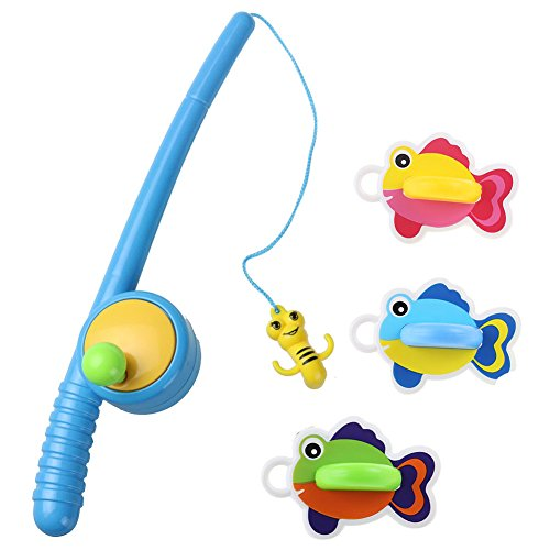 YIXIN Bath Fishing Toy with Floating Fish Enjoy Bathing Fun Time Great Gift for Boys Girls for 3 Years Old Early Education (Gift For 3year Old Girl compare prices)