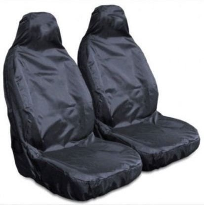 Mr E Saver/© Heavy Duty Black Waterproof Car Seat Covers Front Pair 1+1 MREHDB4028