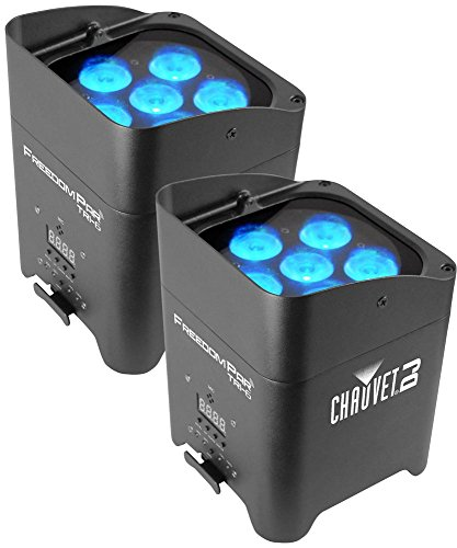 - Chauvet Freedom Par Tri-6 RGB Battery-Powered Wireless Wash Light 2-Pack