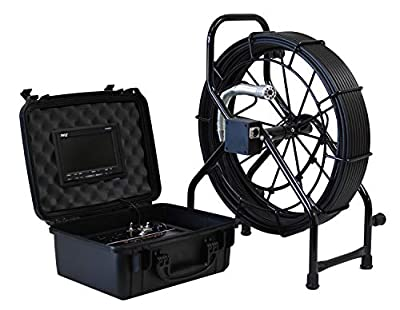 Pipe Raptor GLS-150 Mainline Color Sewer Camera 512hz Sonde Built-In 150' Pushrod 4 Year Warranty Pipe Drain Video Inspection Camera, Made in USA + SD RECORDER