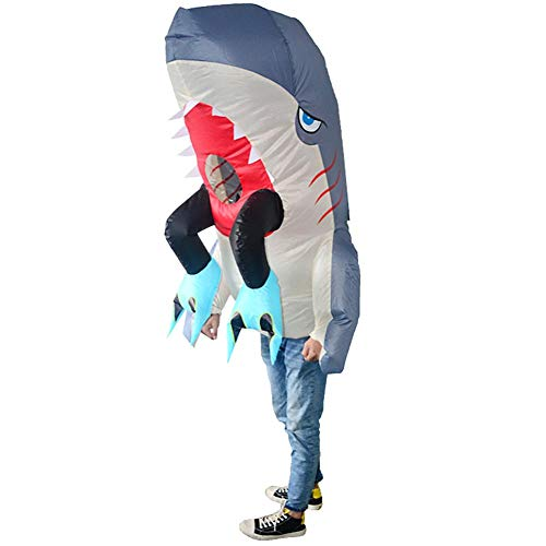 HUAYUARTS Cannibal Shark Men's Inflatable Costume Boys Blow up Party Halloween Cosplay